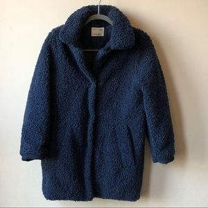 EUC Zara Kids Girls' Blue Boucle-Like Coat 13/14